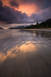 Praia De Lagoinha Beach During Sunset in Ubatuba, Sao Paulo State, Brazil Photographic Print by Alex Saberi