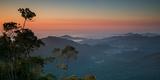 Sunrise Above Serra Do Mar State Park in Sao Paulo State, Brazil Fotografisk tryk af Alex Saberi