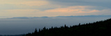 Thick Fog over Strait of Juan De Fuca, During Sunrise from Hurricane Ridge Fotografisk tryk af Raul Touzon