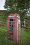 Red Telephone Booth on Kerrera Isle, Part of the Scottish Inner Hebrides Photographic Print by Jeff Mauritzen