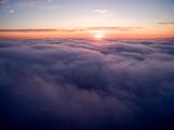 Clouds Above Big Sur at Sunset Fotografisk tryk af Ben Horton