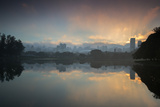 Sunrise on a Lake in Sao Paulo's Ibirapuera Park Photographic Print by Alex Saberi