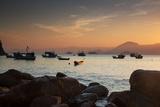 Fishermen's Boats Float Off the Coast of Praia Da Picinguaba, Ubatuba, Brazil Photographic Print by Alex Saberi