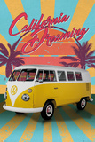 VW- California Dreaming Camper Van Print