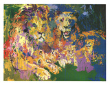 Lions Pride Print by LeRoy Neiman