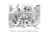 """Make a note—their use of tools is both efficient and precise."" - New Yorker Cartoon Premium Giclee Print by Joe Dator"
