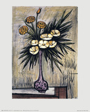 Lauriers Blancs et Zinnias Prints by Bernard Buffet