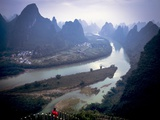 Karst Mountains Along the Li River, Guilin, Guangxi Province, China Photographic Print by Tino Soriano