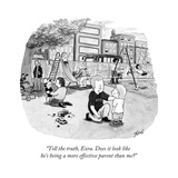 """Tell the truth, Ezra. Does it look like he's being a more effective paren..."" - New Yorker Cartoon Premium Giclee Print by Tom Toro"