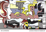 Figures in Landscape Arte di Roy Lichtenstein