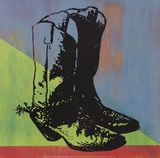 Cowboy Boots Poster by Adam Lewis