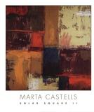 Solar Square II Print by Marta Castells