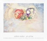 Astral Head Print by Odilon Redon