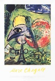 The Bride and Groom of the Eiffel Tower Posters by Marc Chagall