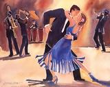 Ardent Tango Print by Deborah Hoover