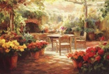 Shaded Patio Prints by Roberto Lombardi