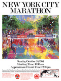 New York City Marathon Poster by LeRoy Neiman