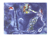Mermaid and Fish Prints by Marc Chagall