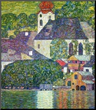 Kirche in Unterach Am Attersee, Church in Unterach on Attersee Mounted Print by Gustav Klimt