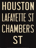 Houston/Lafayette Posters by Winter Works