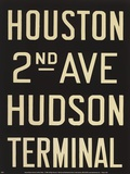 Houston/Hudson Terminal Posters by Winter Works