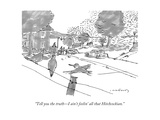 """Tell you the truth—I ain't feelin' all that Hitchcockian."" - New Yorker Cartoon Regular Giclee Print by Michael Crawford"
