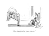 """How do you feel about staying in power?"" - New Yorker Cartoon Regular Giclee Print by Robert Leighton"
