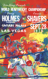 Larry Holmes Vs. Earnie Shavers Poster by LeRoy Neiman
