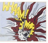 Whaam B Poster di Roy Lichtenstein