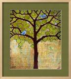 Tree Print Birds Boughs in Leaf Framed Giclee Print by Blenda Tyvoll