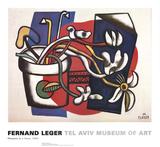 Flowers in a Vase Plakater af Fernand Leger
