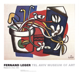 Flowers in a Vase Prints by Fernand Leger