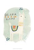 Llama Squad II Print by June Erica Vess