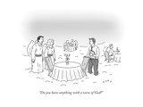 """""""Do you have anything with a view of God"""" - New Yorker Cartoon Giclee Print by Kim Warp"""