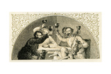 Christmas Carol in Praise of Ale - Illustration by Birket Foster Giclee Print by Myles Birket Foster