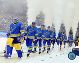 St Louis Blues Team Introduction 2017 NHL Winter Classic Photo