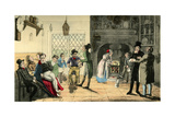 Provincial Actors on their Route-Scene Giclee Print by Theodore Lane