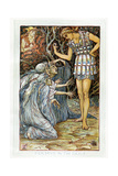 Perseus and the Graia / Graeae (Three Grey Women) Giclee Print by Walter Crane