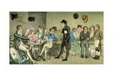Suiting the Action to the Word-Interior of a Hedge Alehouse Contiguous to the Theatre Giclee Print by Theodore Lane