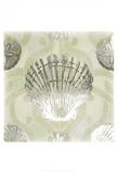 Metallic Shell Tiles I Art by June Erica Vess