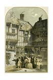 Mummers Play/Mumming - Illustration by Birket Foster, 1872 Giclee Print by Myles Birket Foster