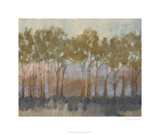 Ochre Treeline I Limited Edition by Jennifer Goldberger
