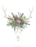 Deer Skull & Flowers II Art by Naomi McCavitt