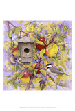 Chickadee & Apples Prints by Marcia Matcham