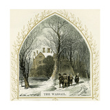 The Wassail - Illustration by Birket Foster, 1872 Giclee Print by Myles Birket Foster