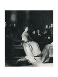 Queen Victoria (24 May 1819 – 22 January 1901) Pictured at Her First Privy Council in 1837 Giclee Print by Sir David Wilkie