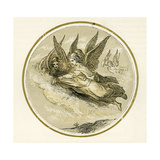Christmas Angels - Illustration by Birket Foster, 1872 Giclee Print by Myles Birket Foster