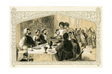 Medieval Christmas Feast - Illustration by Birket Foster, 1872 Giclee Print by Myles Birket Foster