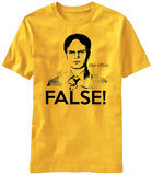 The Office- Dwight False! T-shirts