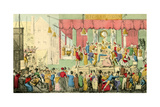 The Vicissitudes of an Actor-Proteus Pulling Them In at Bartholomew Fair Giclee Print by Theodore Lane